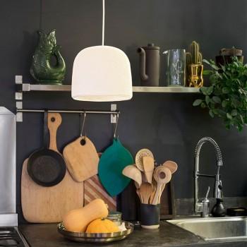 Lamp Cloche wit met het licht uit