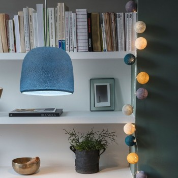 lit denim lighting cloche
