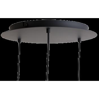 Plafonnier 3 luminaires métal noir mat