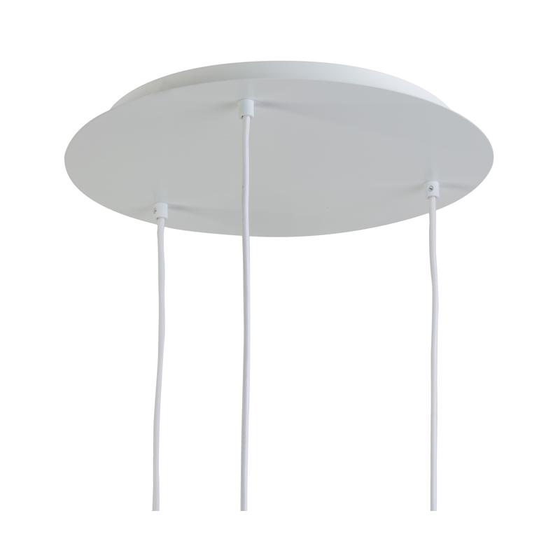 Plafonnier 3 luminaires métal blanc mat