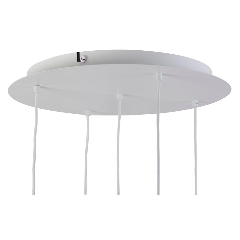 Lámpara de techo 5 blanca mate