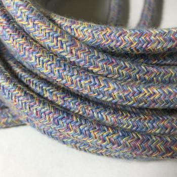 suspension lumineuse nomade fil tissé chiné pastel