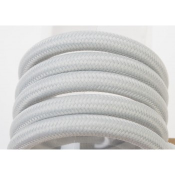 suspension lumineuse fil tissé gris clair