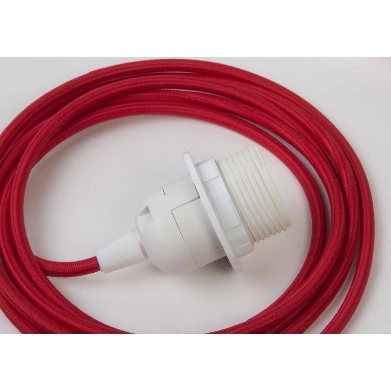 Suspension simple - Rouge 250 cm