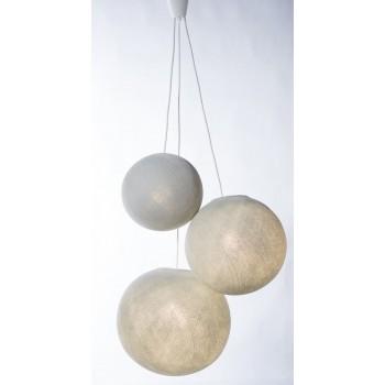 Suspension triple - Plastique blanc