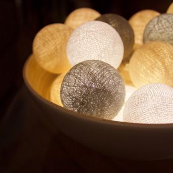 guirlande lumineuse beiges LEDS clipsables Patti