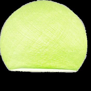 Coupole vert amande allumée