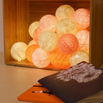 guirlande lumineuse orange LEDS clipsables Lou