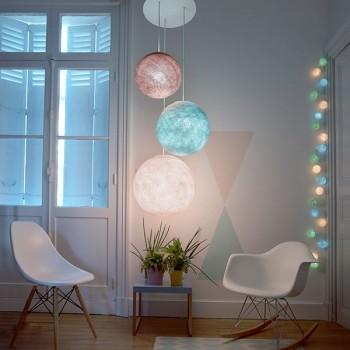 "3 ball lighting ""Soft pastels"""