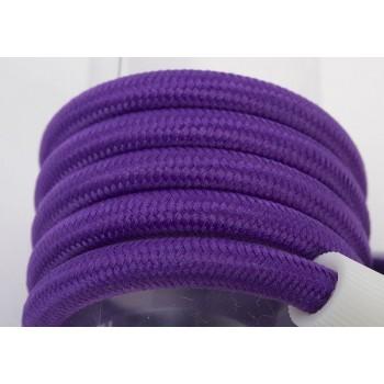 Dreifache Aufhängung mit lilafarbenem Textilgeflechtkabel
