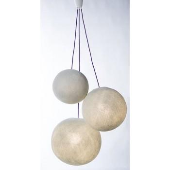 sospensione a tre sfere e cavo tessile viola