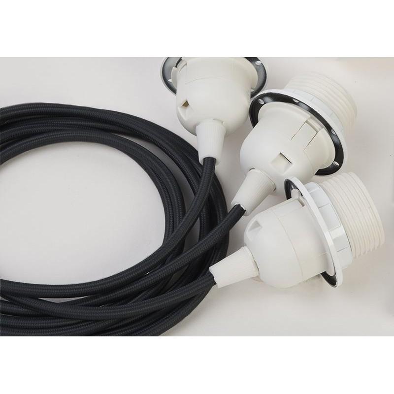 suspensión triple cable tejido negro