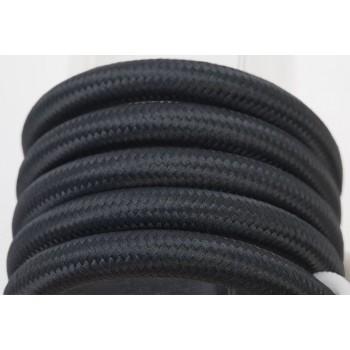 single hanging fixture black braided cord