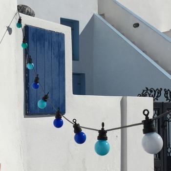 coffret guirlande LED guinguette bleu