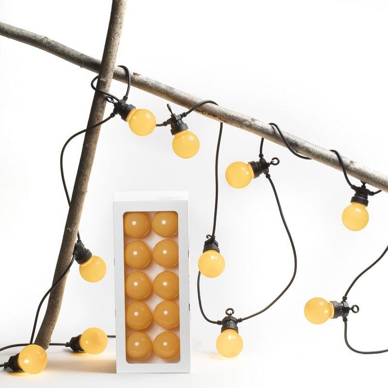 coffret guirlande LED guinguette ocre