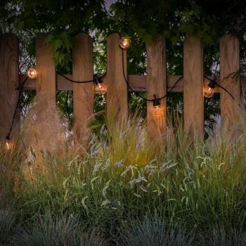 guirlande LED guinguette transparent jardin