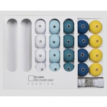 guirlande lumineuse bleu jaune LEDS clipsables Buddy