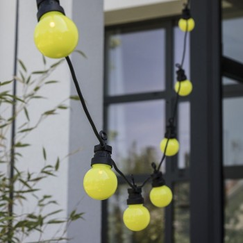 coffret guirlande LED guinguette vert kiwi