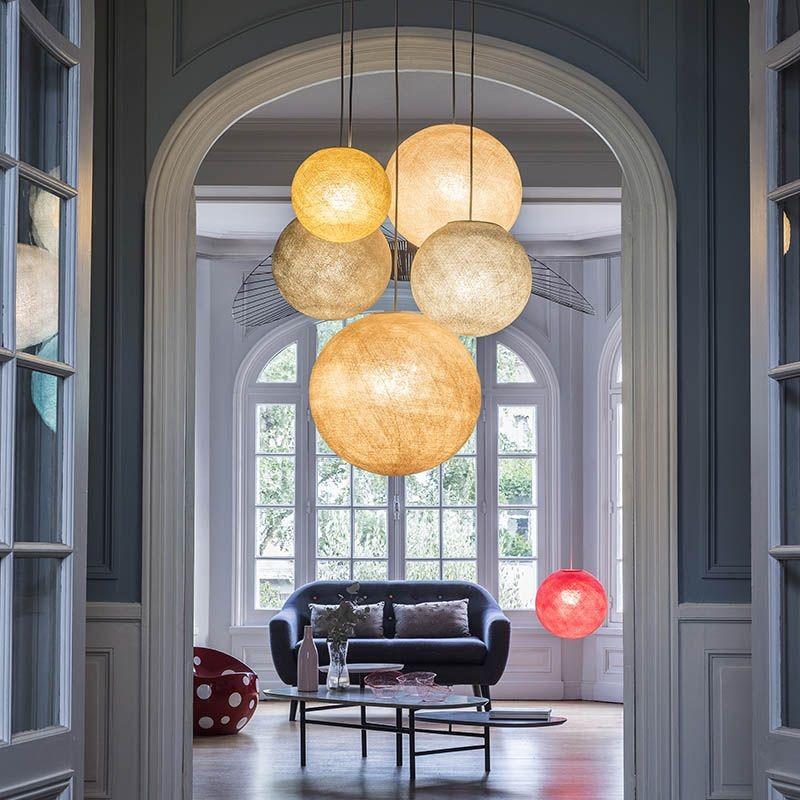 suspension plafonnier 5 naturels la case de cousin paul. Black Bedroom Furniture Sets. Home Design Ideas