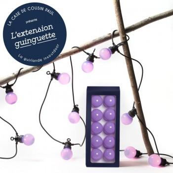 extension guirlande LED guinguette