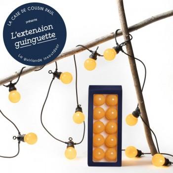 extension guirlande LED guinguette Ocre