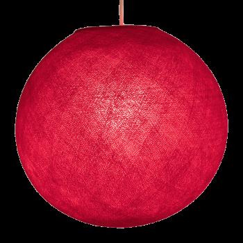 Globe rouge allumé