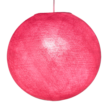 Globe rose allumé