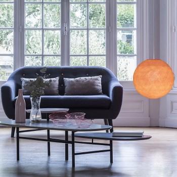 Globe orange clair allumé
