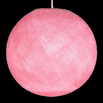 Globe rose clair allumé