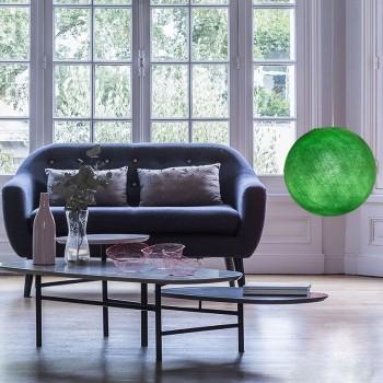 Globe vert flash allumé