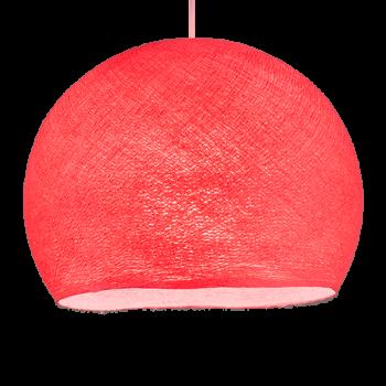 Coupole rose bonbon allumée