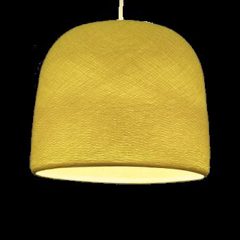 abat-jour cloche jaune allumé