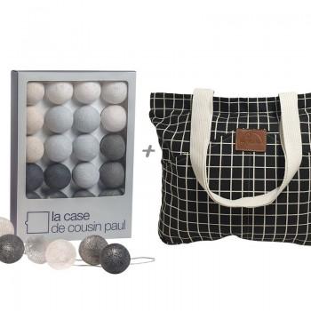 guirlande lumineuse l'original  brooklyn gris et son sac
