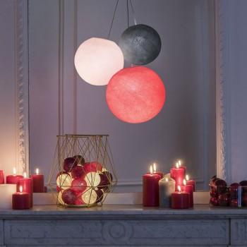 luminaire 3 abat-jours globes anthracite dragée bonbon