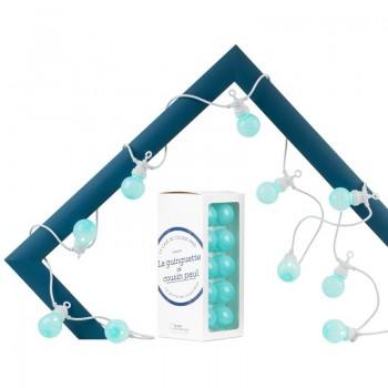 Coffret guirlande LED Guinguette intérieur extérieur horizon câble blanc
