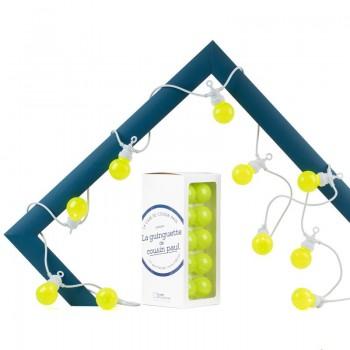 guirlande LED Guinguette intérieur extérieur kiwi câble blanc