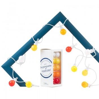 Coffret guirlande LED Guinguette intérieur extérieur Ipanema câble blanc