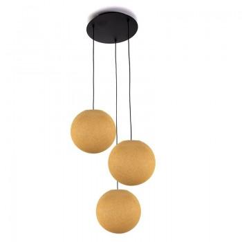 Pack plafonnier 3 globes S moutarde éteint