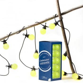 extension guirlande LED guinguette kiwi