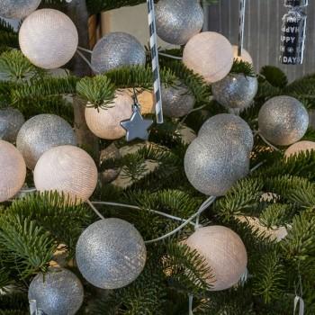 guirlande lumineuse composition Noël Luge