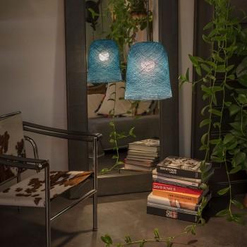 Lamp Jupe eendenblauw met het licht uit