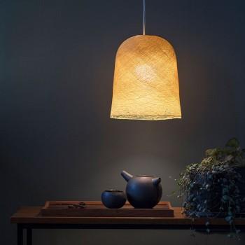 Lamp Jupe mosterd met het licht aan