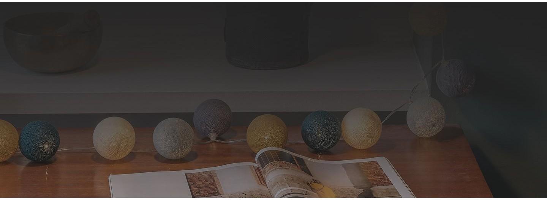 Guirlande lumineuse LED avec boules clipsables à composer soi-même